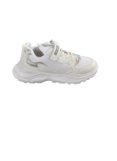 Cool 20-S06 Beyaz-Yeşil-Siyah Çocuk Spor Ayakkabı Beyaz